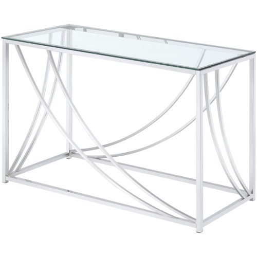 Coaster 720490 Modern Glass Top Sofa Table