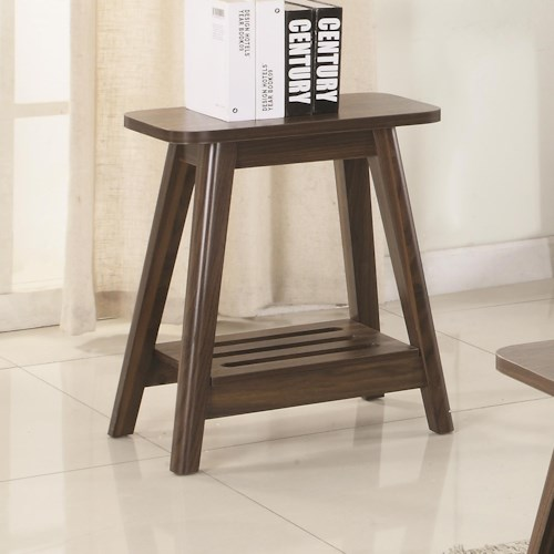 Coaster 72055 Brown Mid-Century Modern Accent Table
