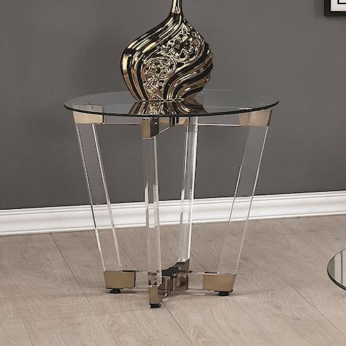 Coaster 72071 Contemporary Round End Table