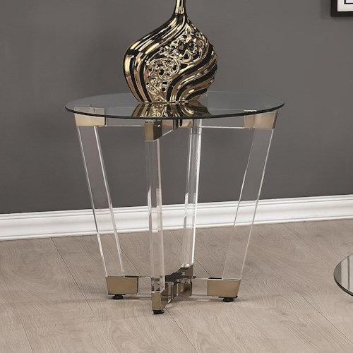 Coaster 72071 Contemporary Round End Table