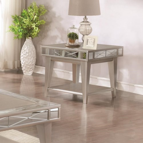 Coaster 72088 Bling Mirrored End Table