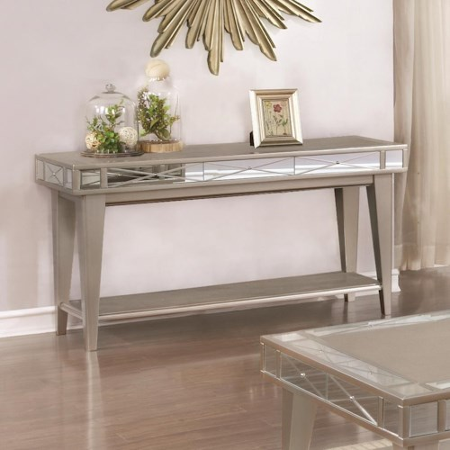 Coaster 72088 Bling Mirrored Sofa Table