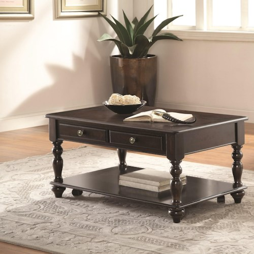 Coaster 72101 Rectangular Lift Top Coffee Table