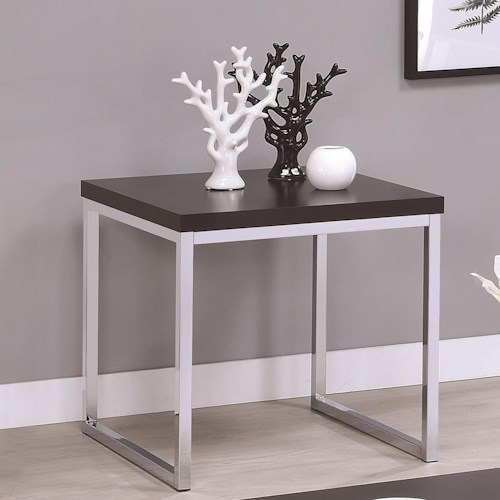 Coaster 72102 Contemporary Square End Table