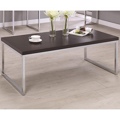 Coaster 72102 Contemporary Rectangular Coffee Table