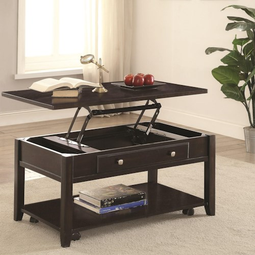 Coaster 72103 Rectangular Lift Top Coffee Table