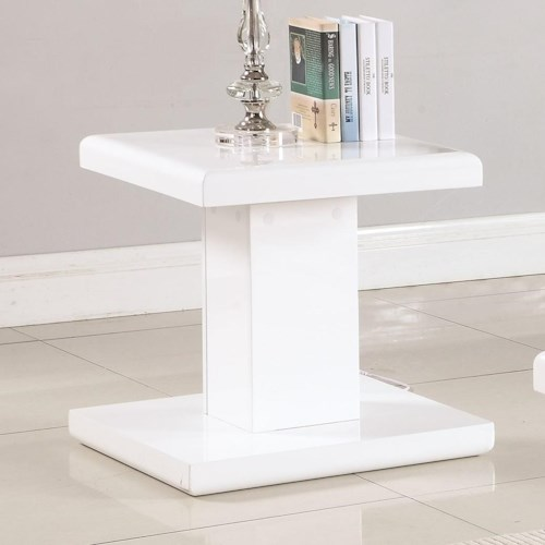 Coaster 72109 Contemporary End Table with Swiveling Top