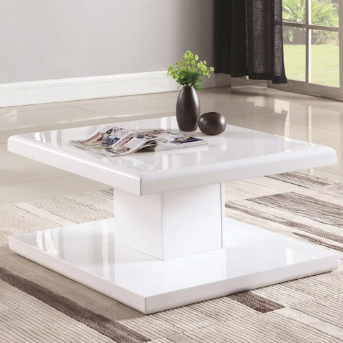 Coaster 72109 Contemporary Square Coffee Table with Swiveling Top