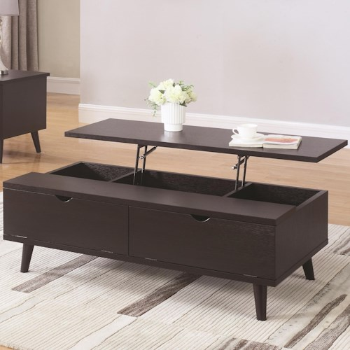 Coaster 72112 Mid Century Modern Lift Top Coffee Table