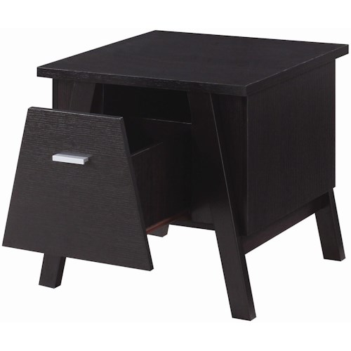 Coaster 72113 Rectangular End Table with Drawer