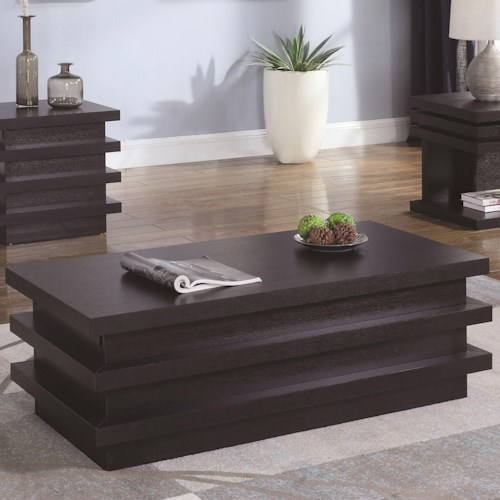Coaster 72119 Rectangular Coffee Table with Storage Compartment