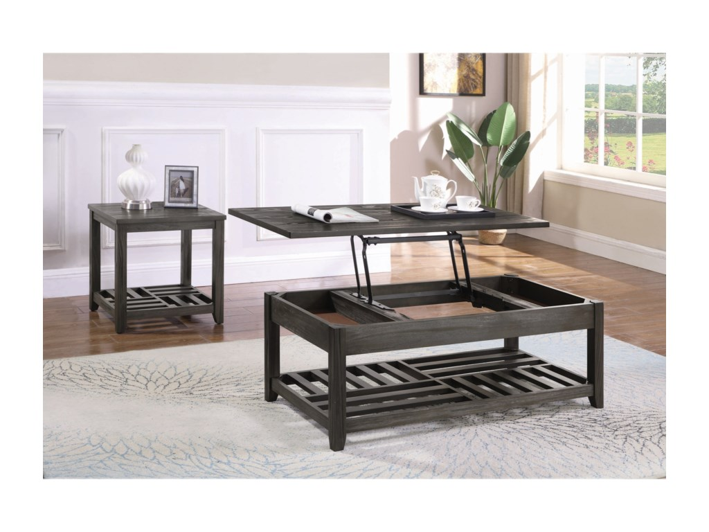 Coaster Occasional GroupLift Top Coffee Table