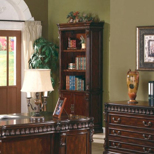 Coaster Union Hill Open Bookcase with Storage Base