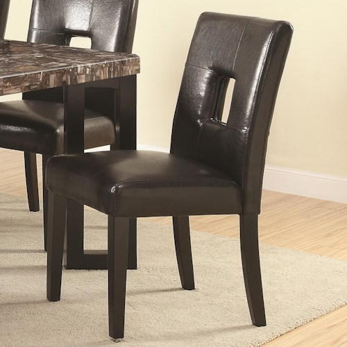 Coaster Abigail  Contemporary Dining Side Chair with Upholstered Seat and Back