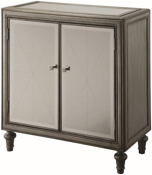 Coaster Accent Cabinets Glamorous Mirrored Wine Cabinet