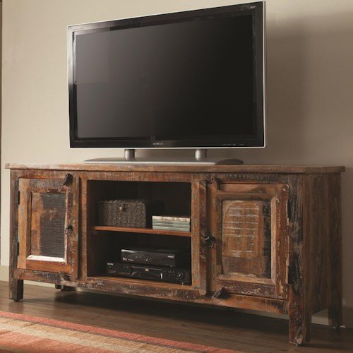 Coaster Accent Cabinets Reclaimed Wood TV Stand