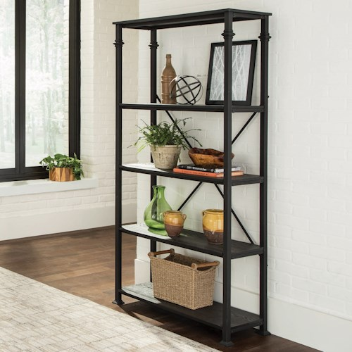 Coaster Accent Cabinets Industrial Bookcase with 4 Shelves