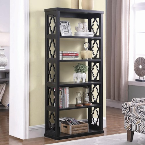 Coaster Accent Cabinets Relaxed Vintage Bookcase with 5 Shelves