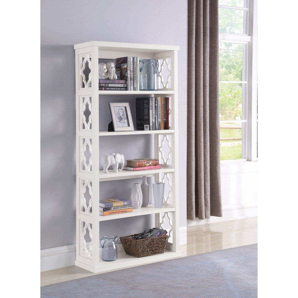 Accent cabinets relaxed vintage bookcase with 5 shelves by coaster