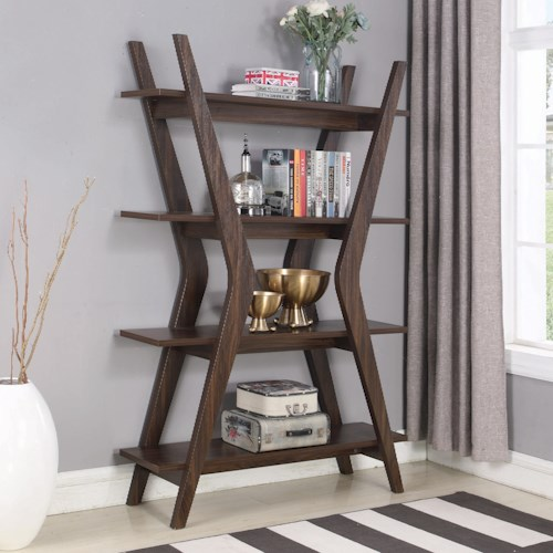 Coaster Accent Cabinets Contemporary Bookcase with 4 Shelves