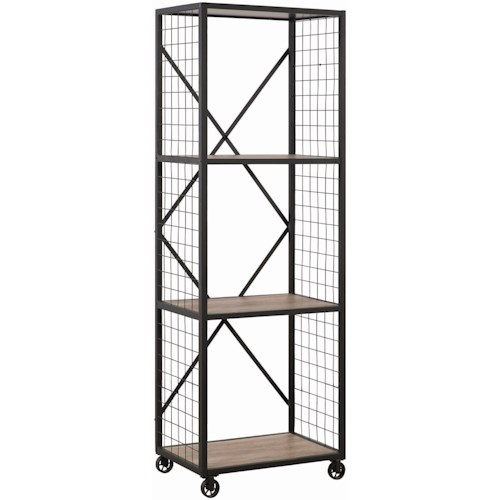Coaster Accent Cabinets Industrial Bookcase with 3 Shelves