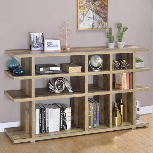 Coaster Accent Cabinets Contemporary Bookcase with Tier Shelving