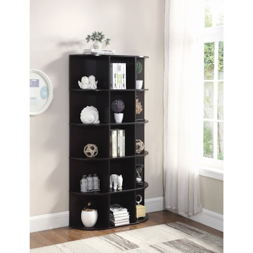 Coaster Accent Cabinets Transitional Bookcase with 15 Shelves