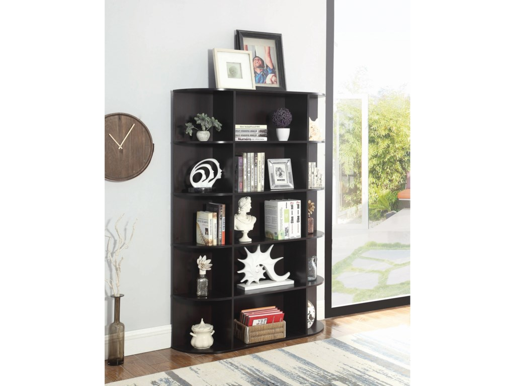 Accent Cabinets Transitional Bookcase With 15 Shelves By Coaster