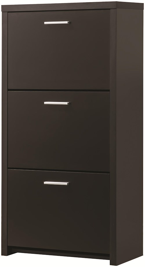 Coaster Accent Cabinets Tall 3-Drawer Shoe Cabinet