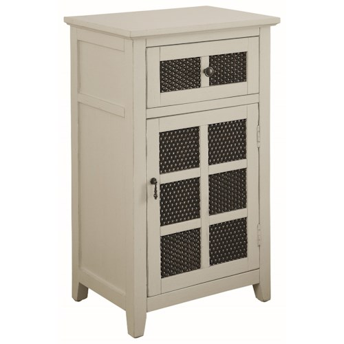 Coaster Accent Cabinets Accent Cabinet with Metal Paneled Doors