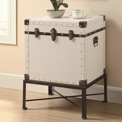 Coaster Accent Cabinets Trunk-style Accent Side Table