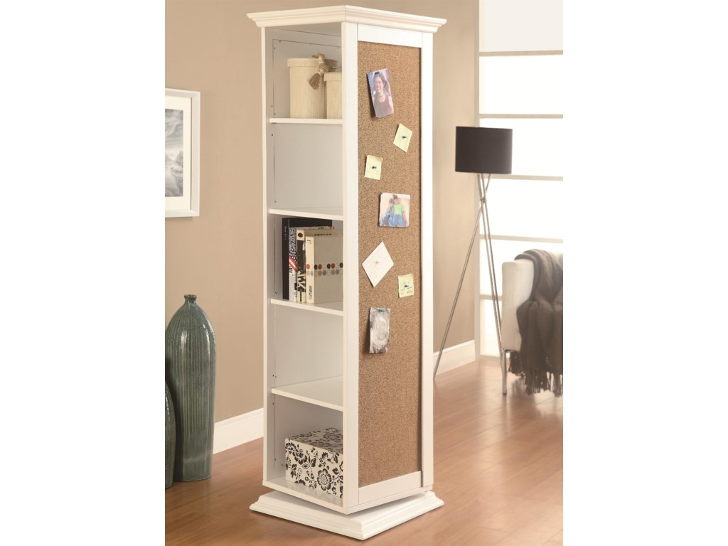 Fine Furniture Accent CabinetsSwivel Storage Cabinet