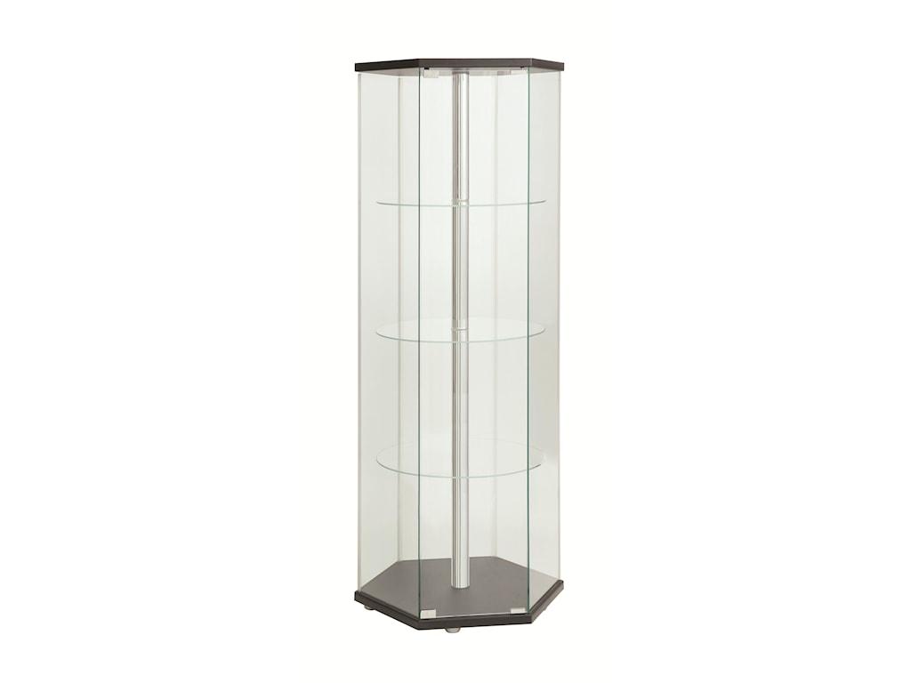 Coaster Accent CabinetsCurio Cabinet