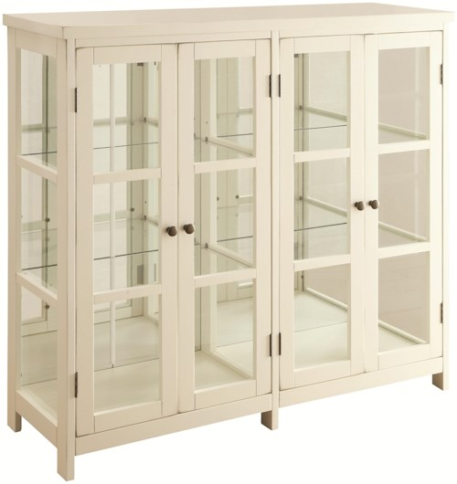 Coaster Accent Cabinets White Accent Display Cabinet