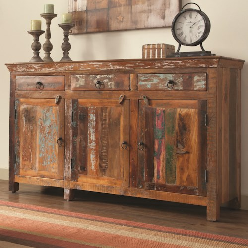 Coaster Accent Cabinets Rustic Cabinet w/ Doors