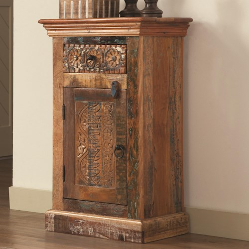 Coaster Accent Cabinets Petite Rustic Cabinet