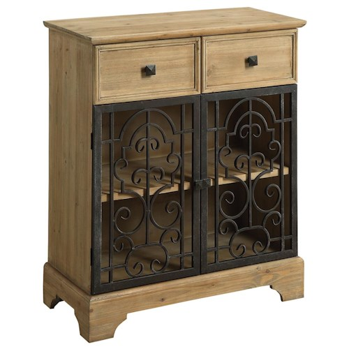 Coaster Accent Cabinets Accent Cabinet with Metal Doors