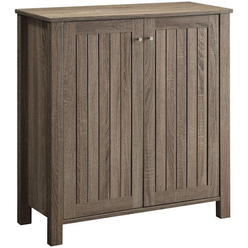 Coaster Accent Cabinets Weathered Gray Shoe Cabinet/Accent Cabinet