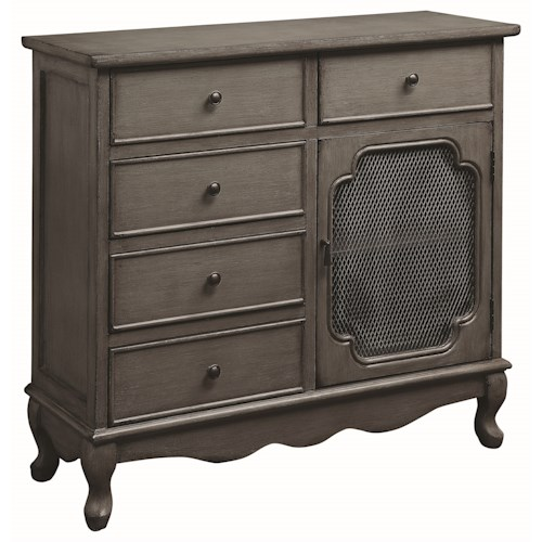 Coaster Accent Cabinets Accent Cabinet with Scalloped Apron