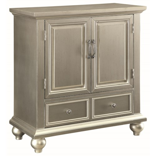 Coaster Accent Cabinets Glamorous Accent Cabinet with Silver Finish
