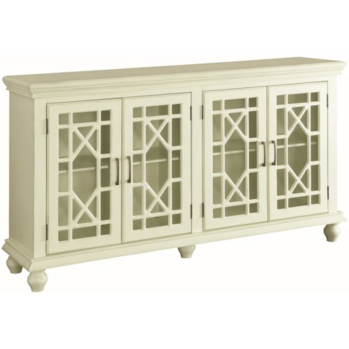 Coaster Accent Cabinets Accent Cabinet with Lattice Doors