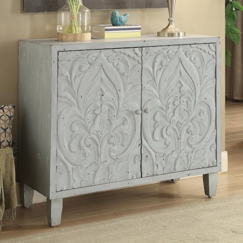 Coaster Accent Cabinets Accent Cabinet with Floral Door Design