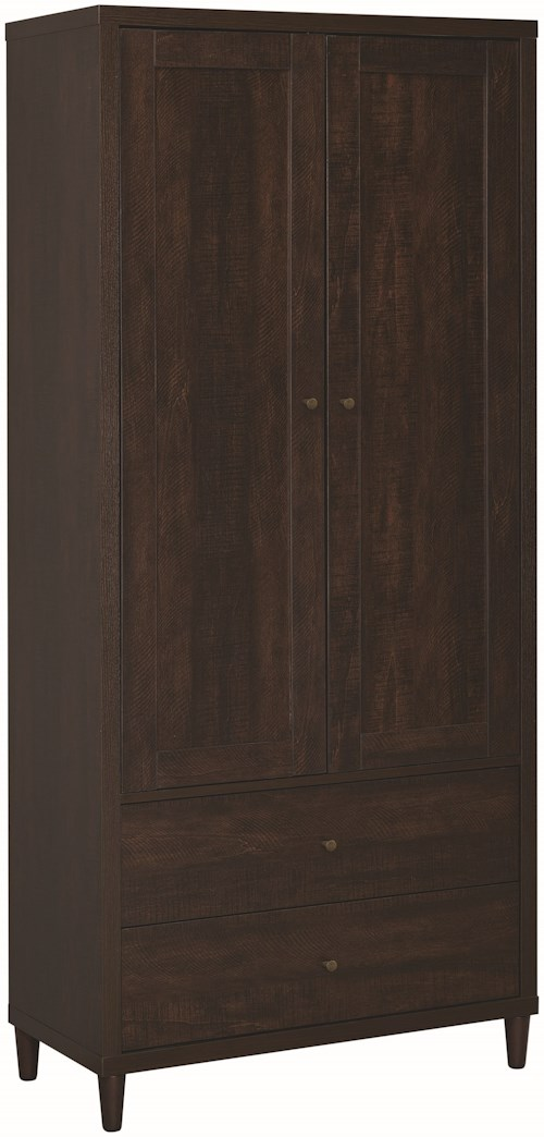 Coaster Accent Cabinets Brown Tall Accent Cabinet with Doors
