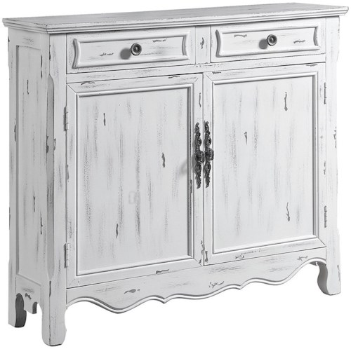 Coaster Accent Cabinets Distressed White Accent Table