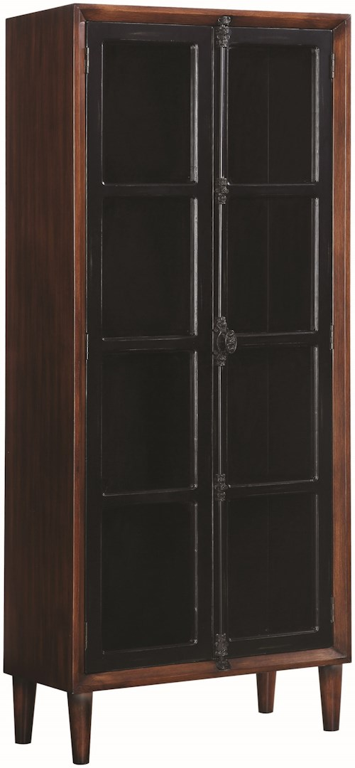 Coaster Accent Cabinets Two-Tone Accent Cabinet Two Glass Doors