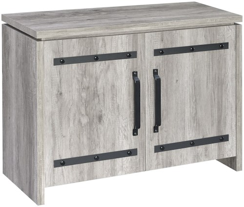Coaster Accent Cabinets Rustic Grey Accent Cabinet