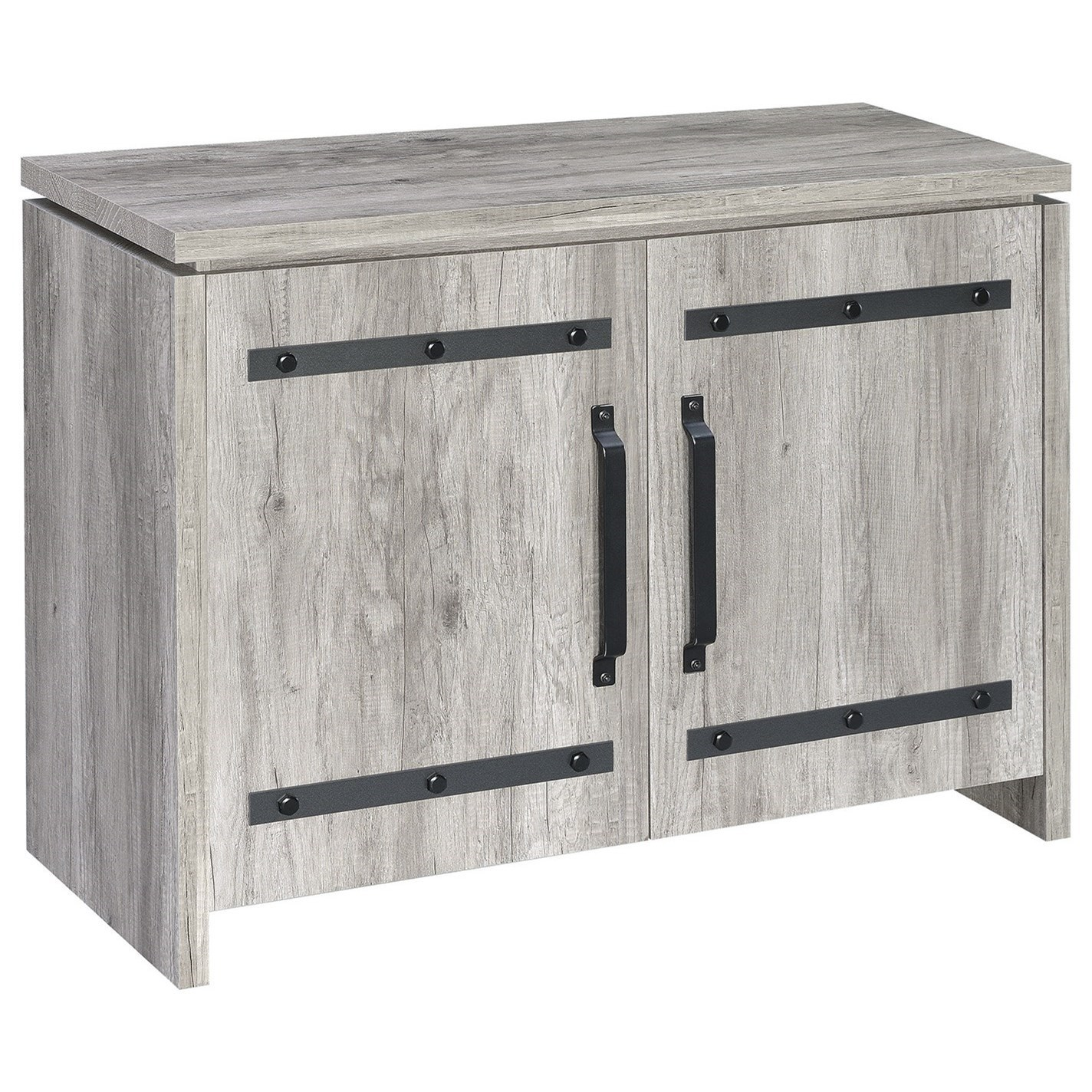 Accent Cabinets Rustic Grey Accent Cabinet By Coaster