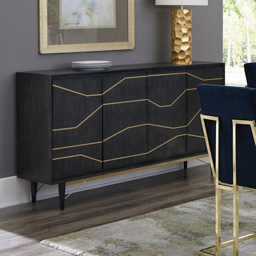 Coaster Accent Cabinets Contemporary Accent Chest with Mahogany and Oak Veneers
