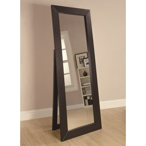 Coaster Accent Mirrors Black Finish Floor Mirror