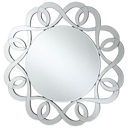 Coaster Accent Mirrors Round Frameless Mirror